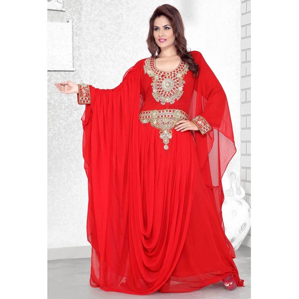 Womens Kaftan Red color Arabian Design wear