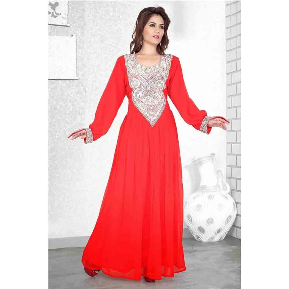 Womens Kaftan Red color Modern Style
