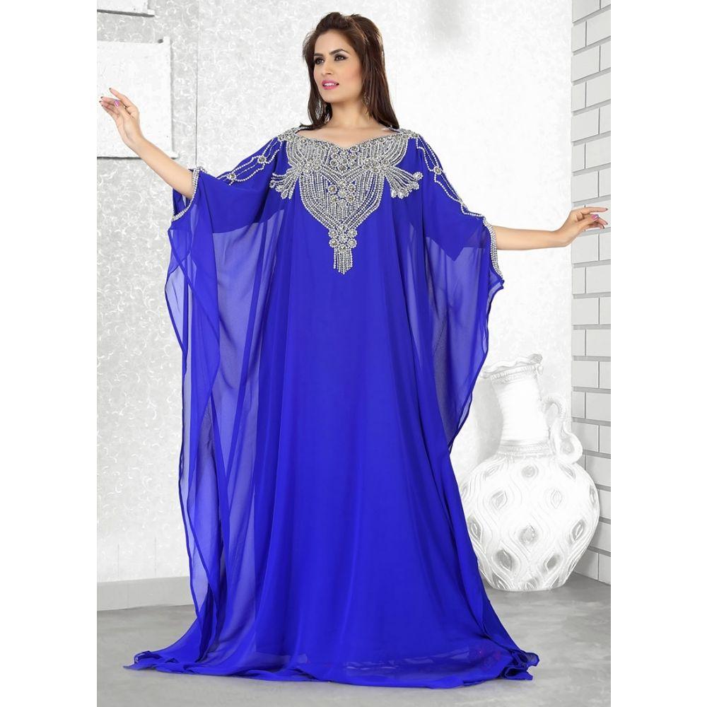 Womens Kaftan Blue color Designer wear