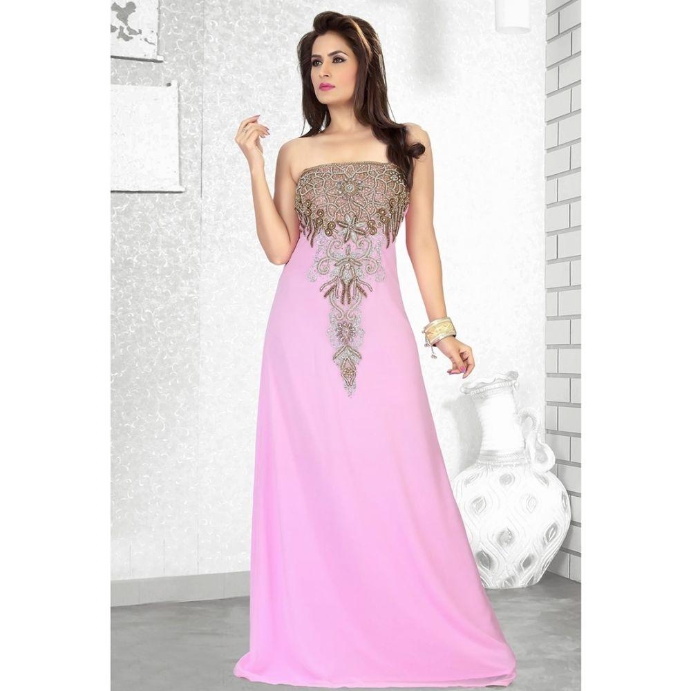 Womens Kaftan Pink color Fancy style