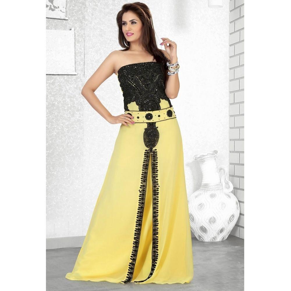 Womens Kaftan Yellow color Modern Style