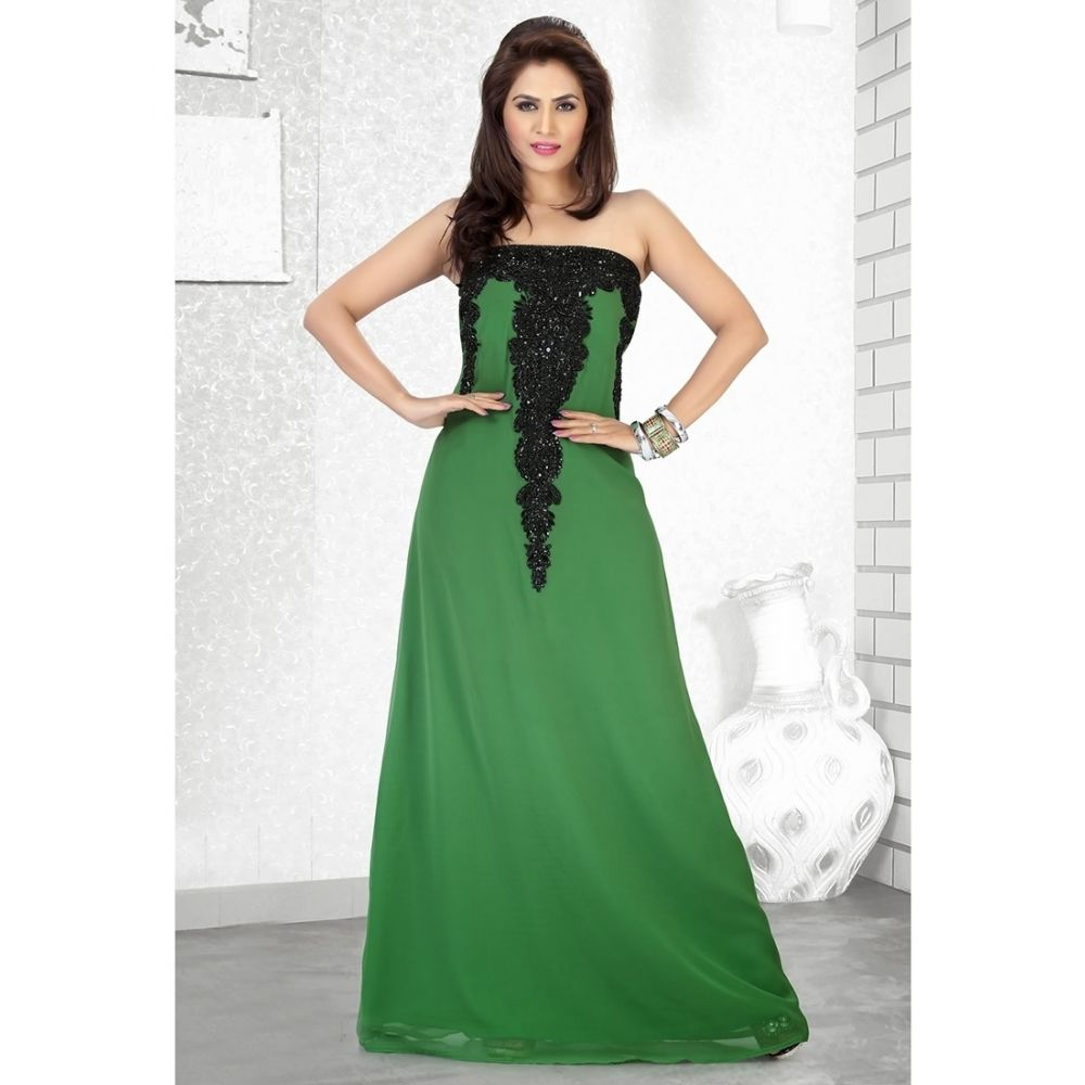 Womens Kaftan Green color Designer wear