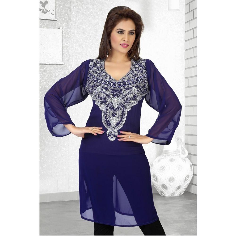 Womens Kaftan Blue color Arabian Design wear