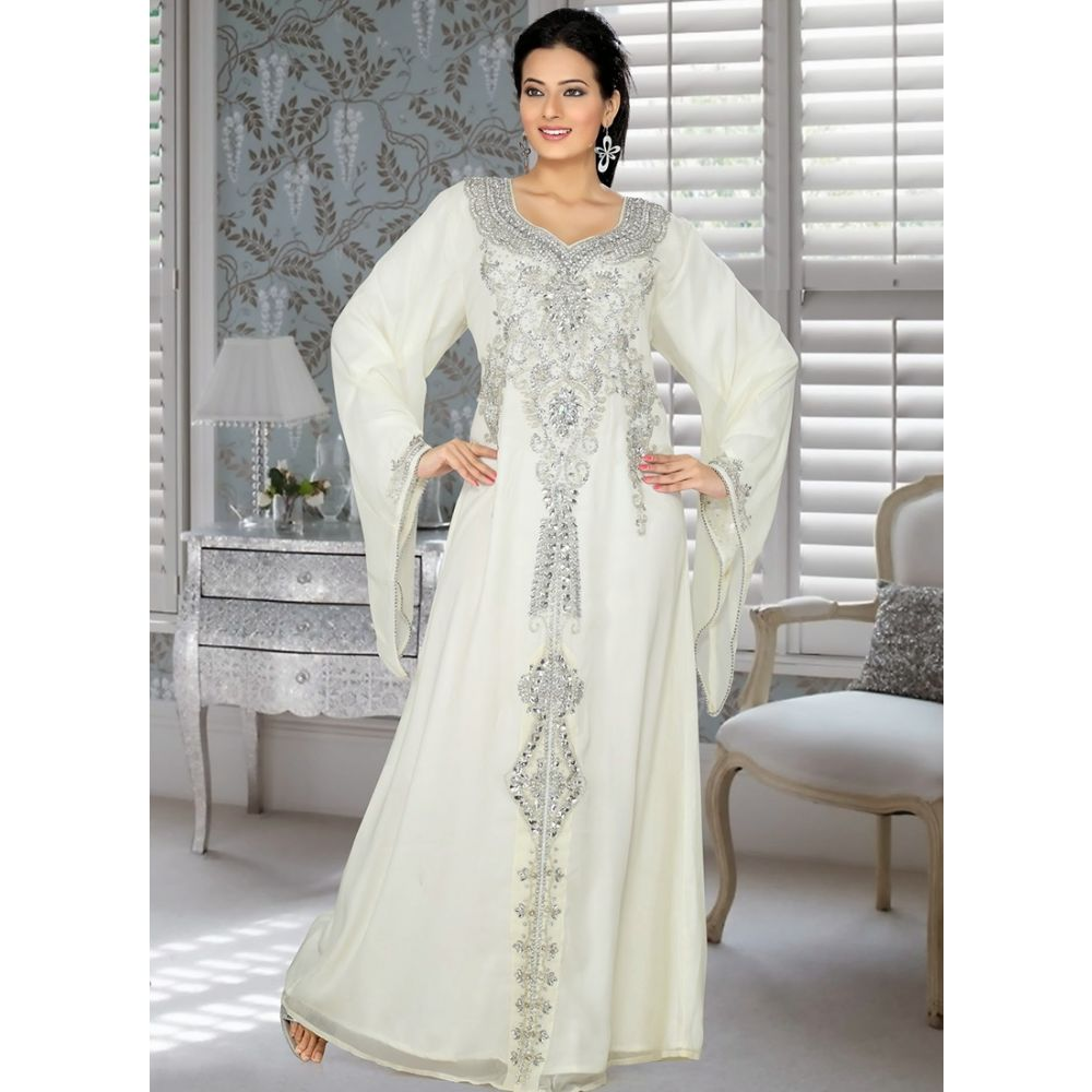 Womens Kaftan Off White color Fancy style