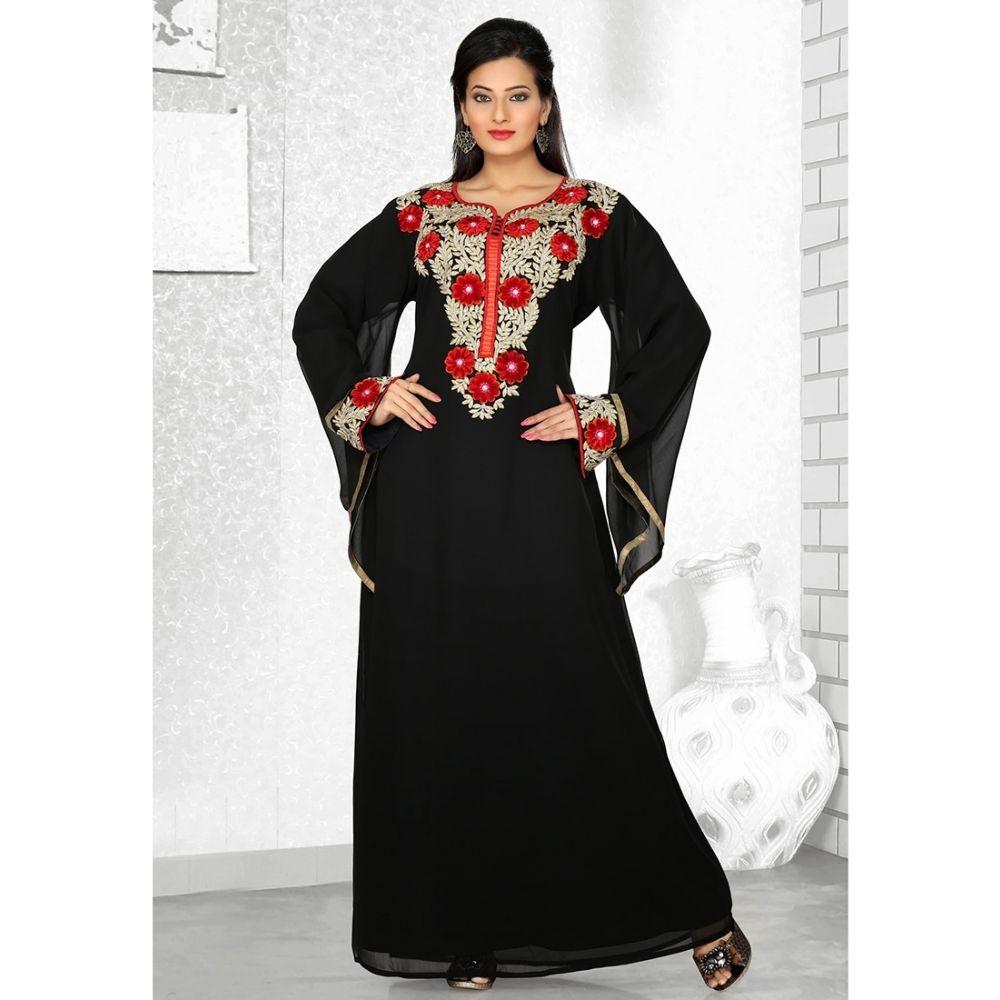 Womens Kaftan Black color Formal Dresses
