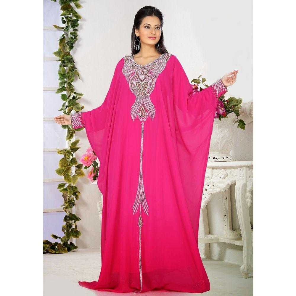 Womens Kaftan Pink color Stylist