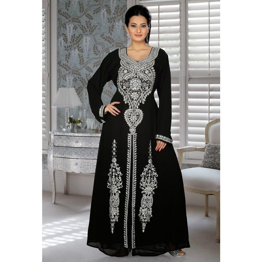 Womens Kaftan Black color Fancy style
