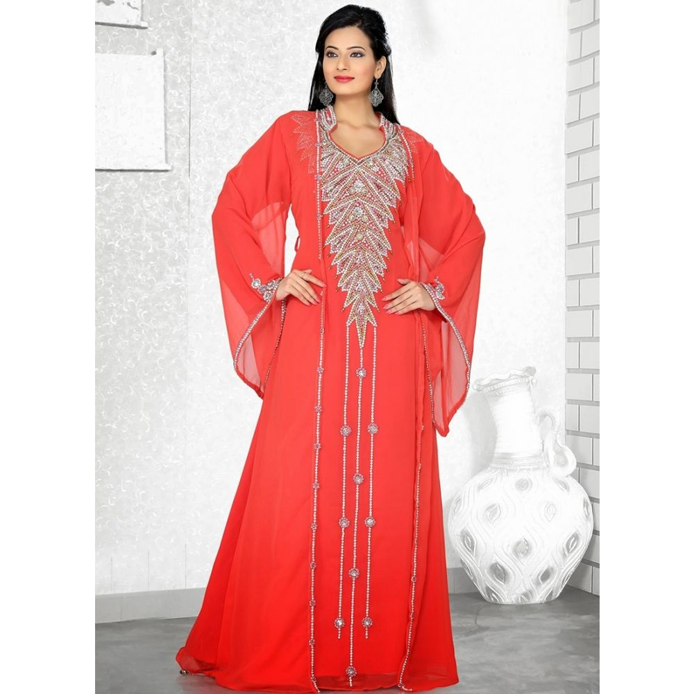 Womens Kaftan Red color Stylist
