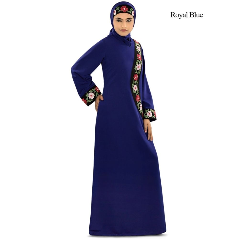 Womens Abaya Blue Color Party Wear