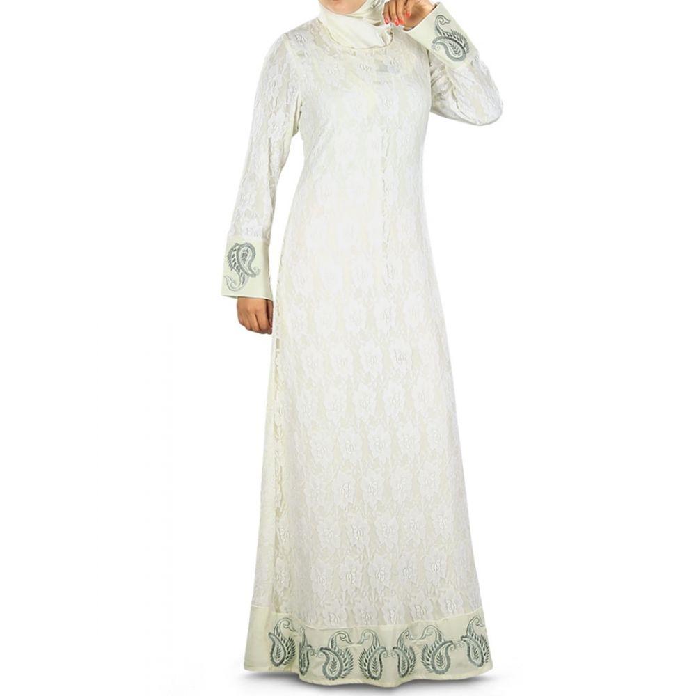 Womens Abaya Off White Color Extraordinary