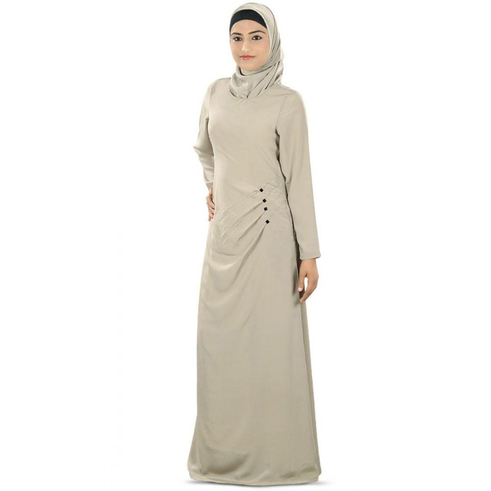 Womens Abaya Grey Color Grand Walidah