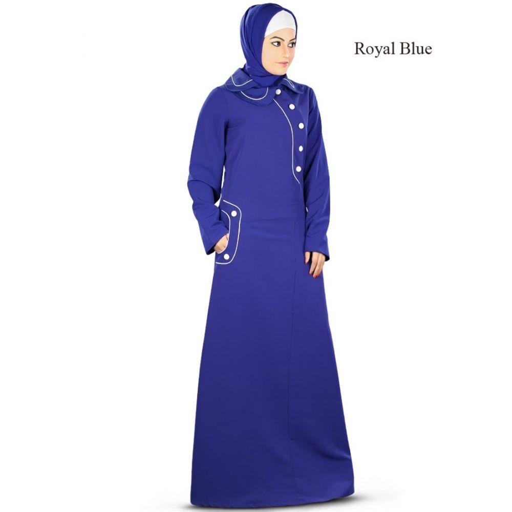 Womens Abaya Blue Color Flamboyant