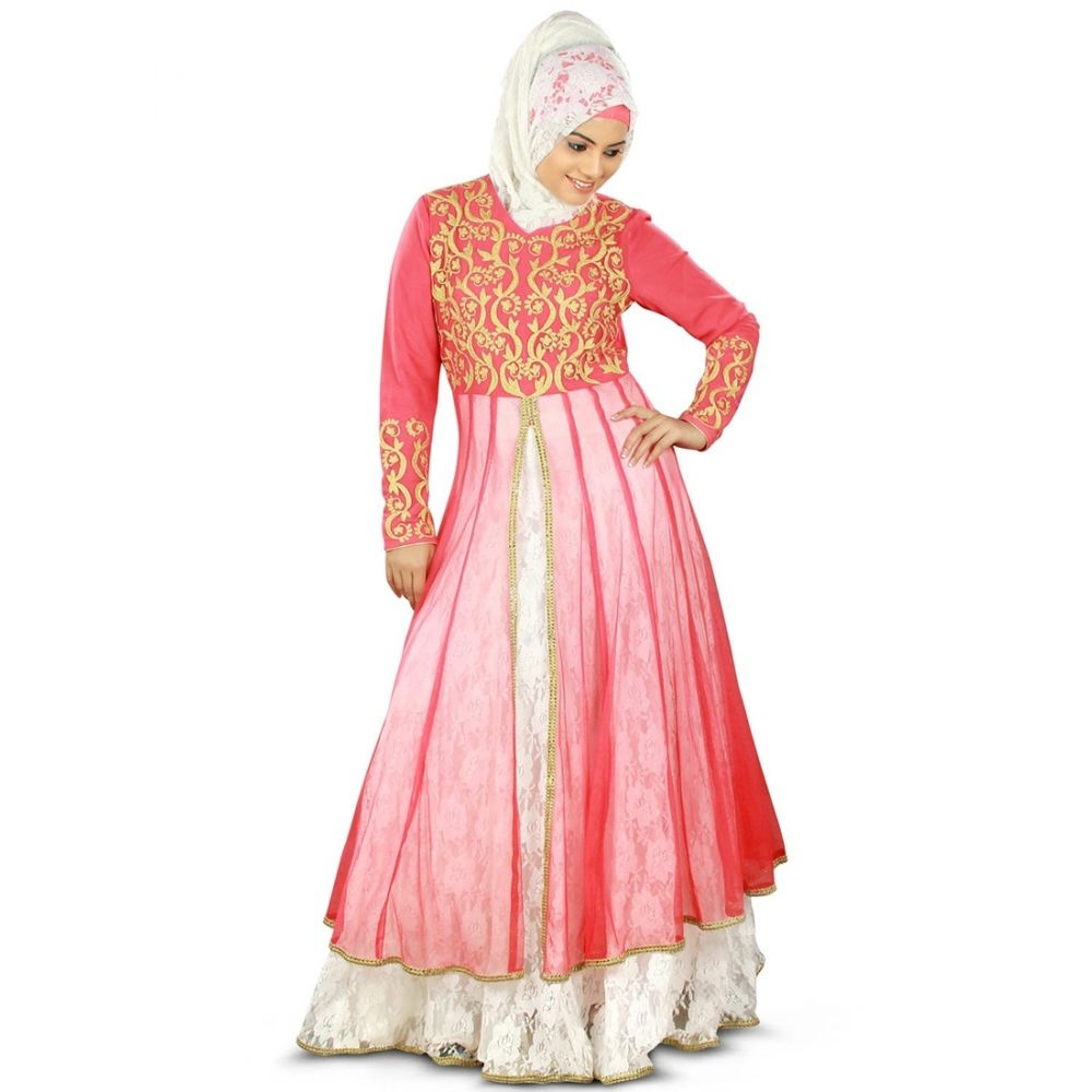 Womens Abaya Pink Color Graceful