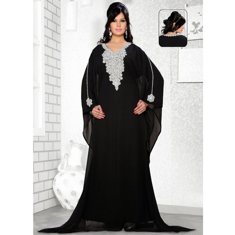 Womens Kaftan Black color Designer wear