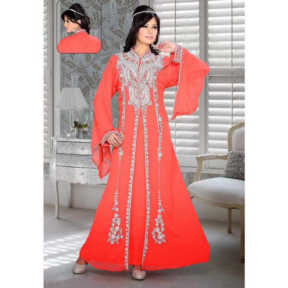 Womens Kaftan Orange color Stylist