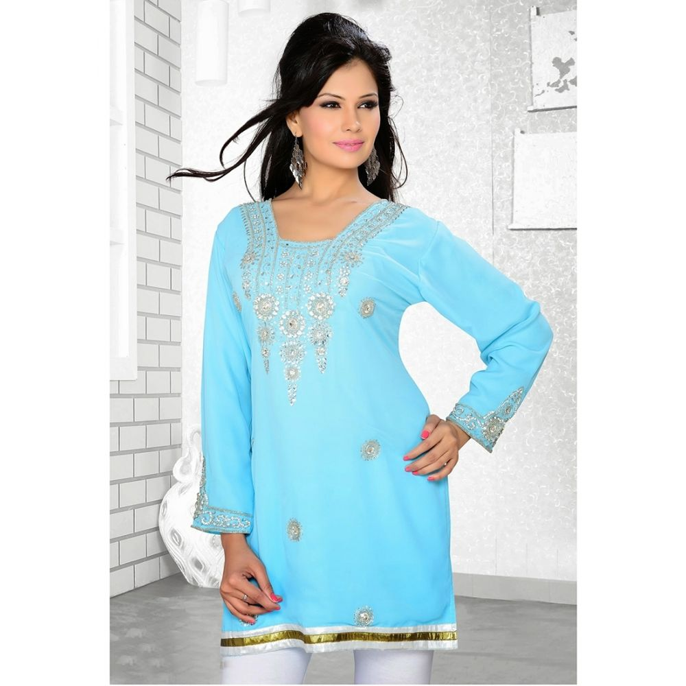 Womens Kurti Blue color Modern Style