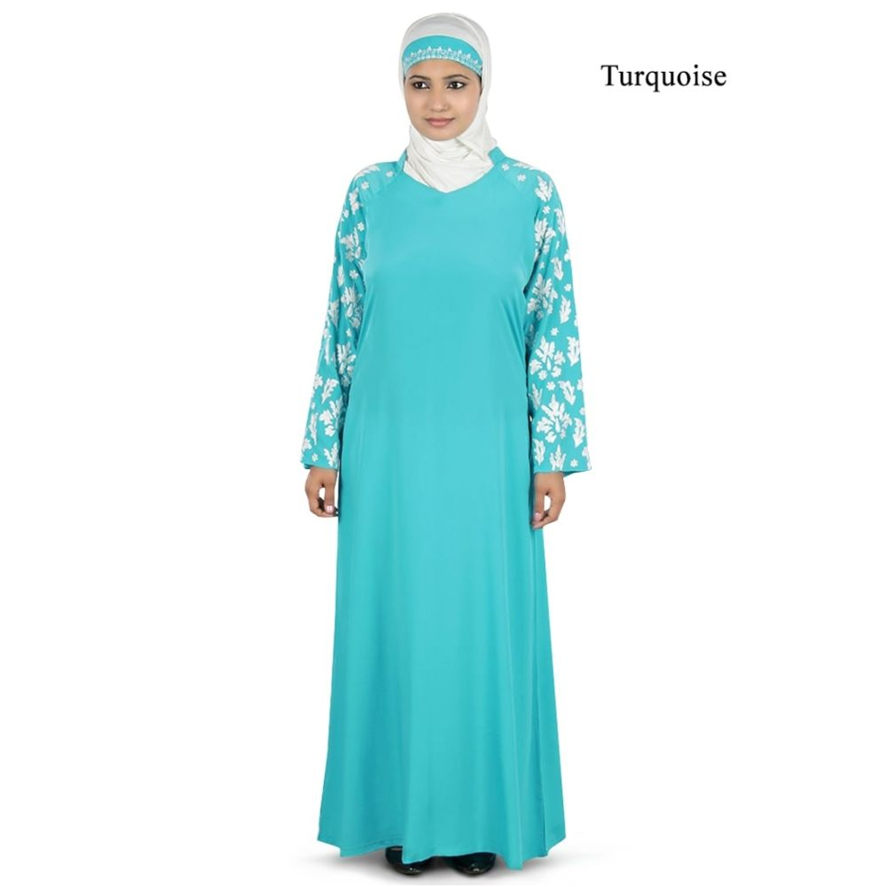 Womens Abaya Turquoise Color Formal