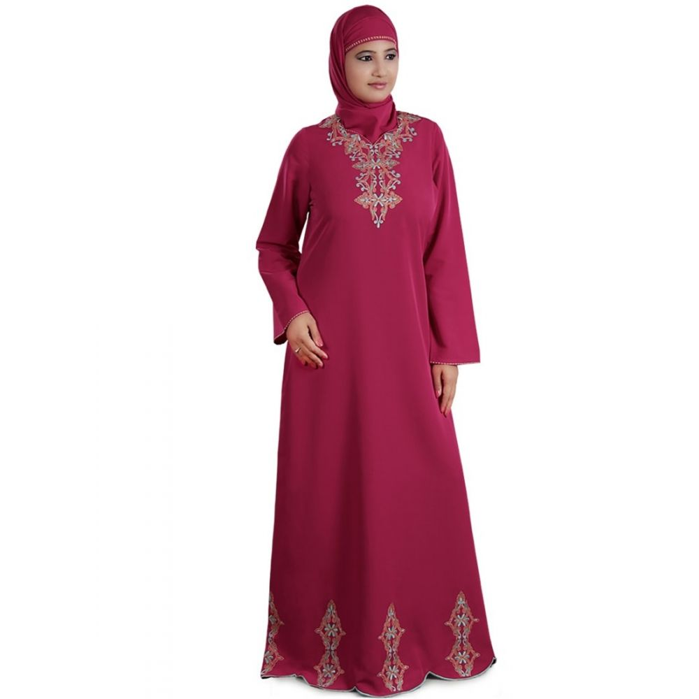 Womens Abaya Pink Color Modest Maxi