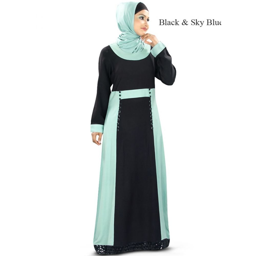 Womens Abaya Black Color Modest Maxi