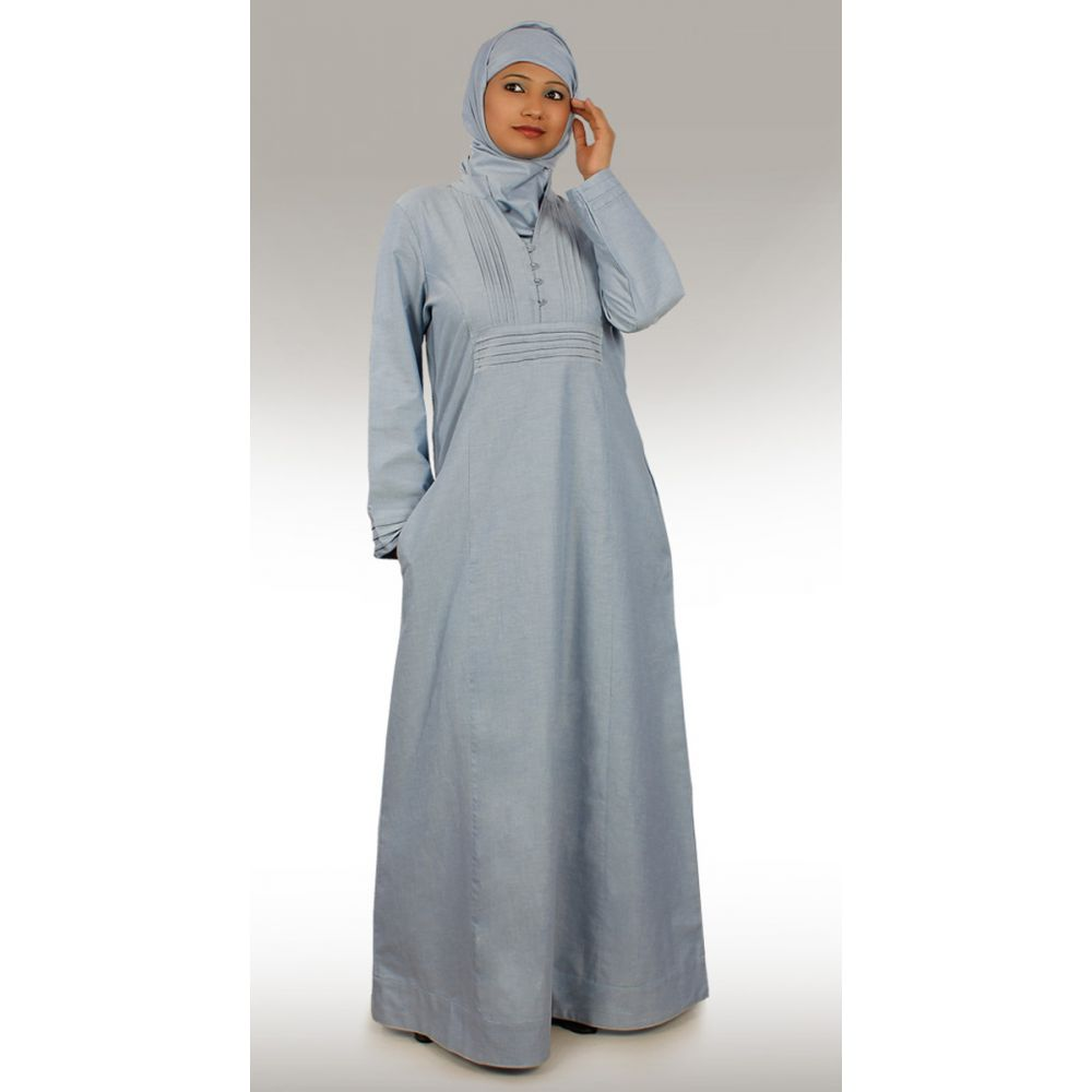 Womens Abaya Blue Color Formal
