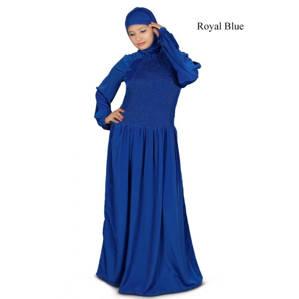 Womens Abaya Blue Color Long