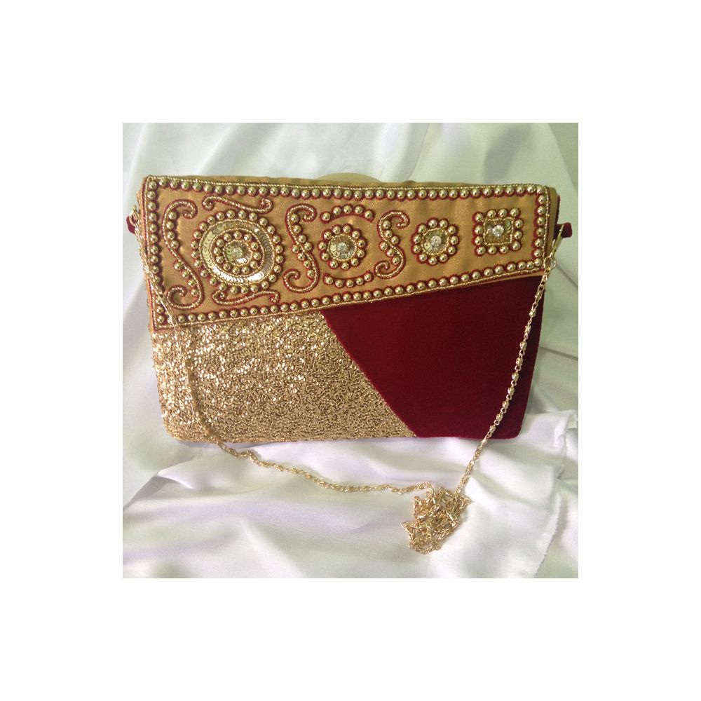 Red & Goldern Colored Purse for Woman