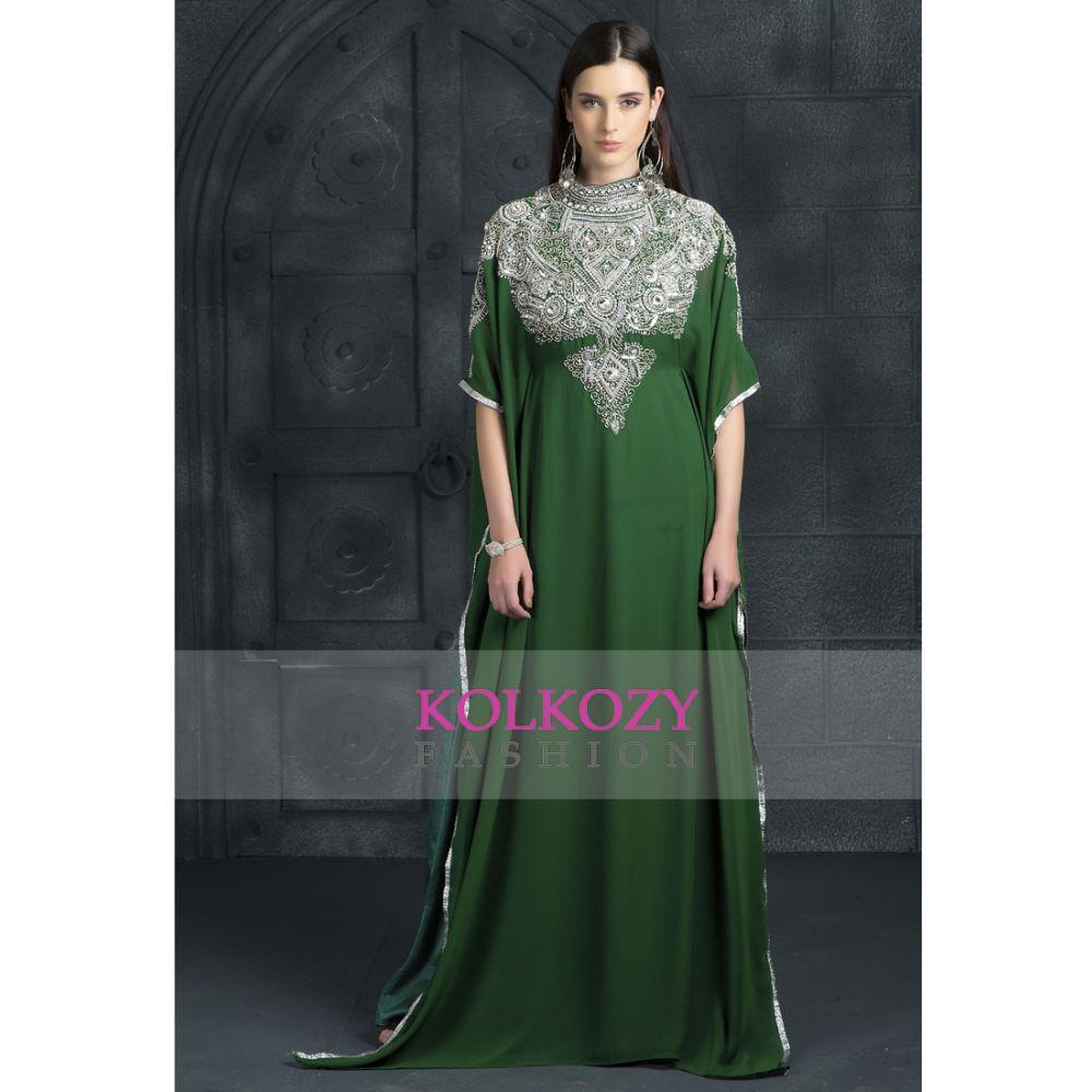 Green color Kaftan-Georgette Kaftan