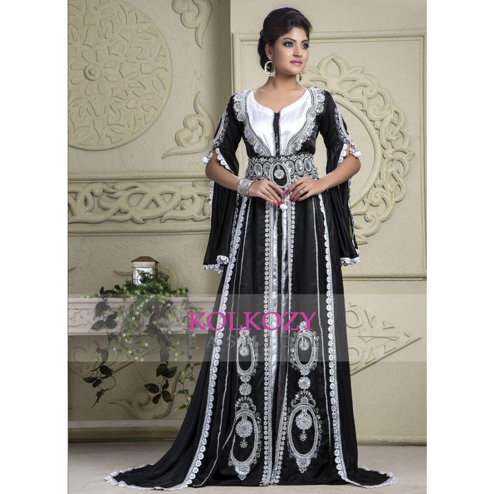 Black color Bridal - Georgette Kaftan