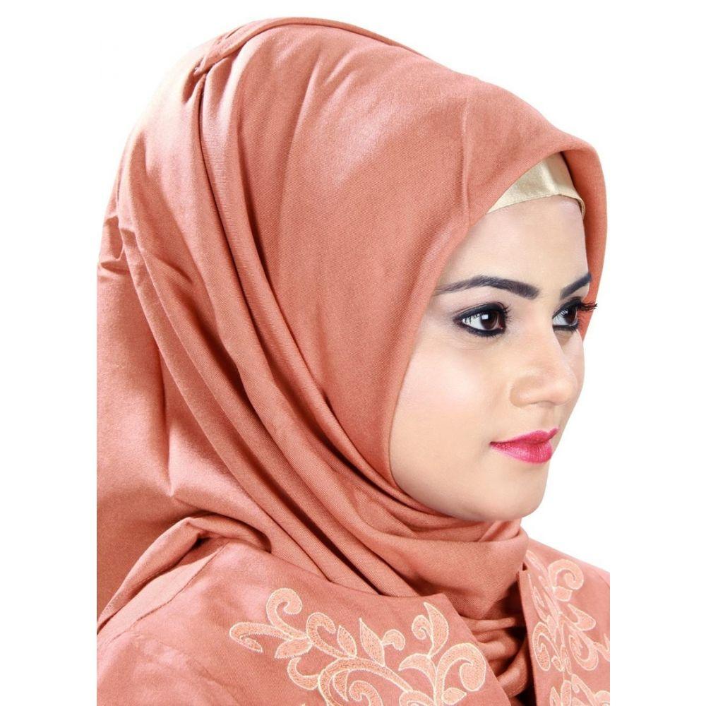 Orange color Designer-Rayon Hijab