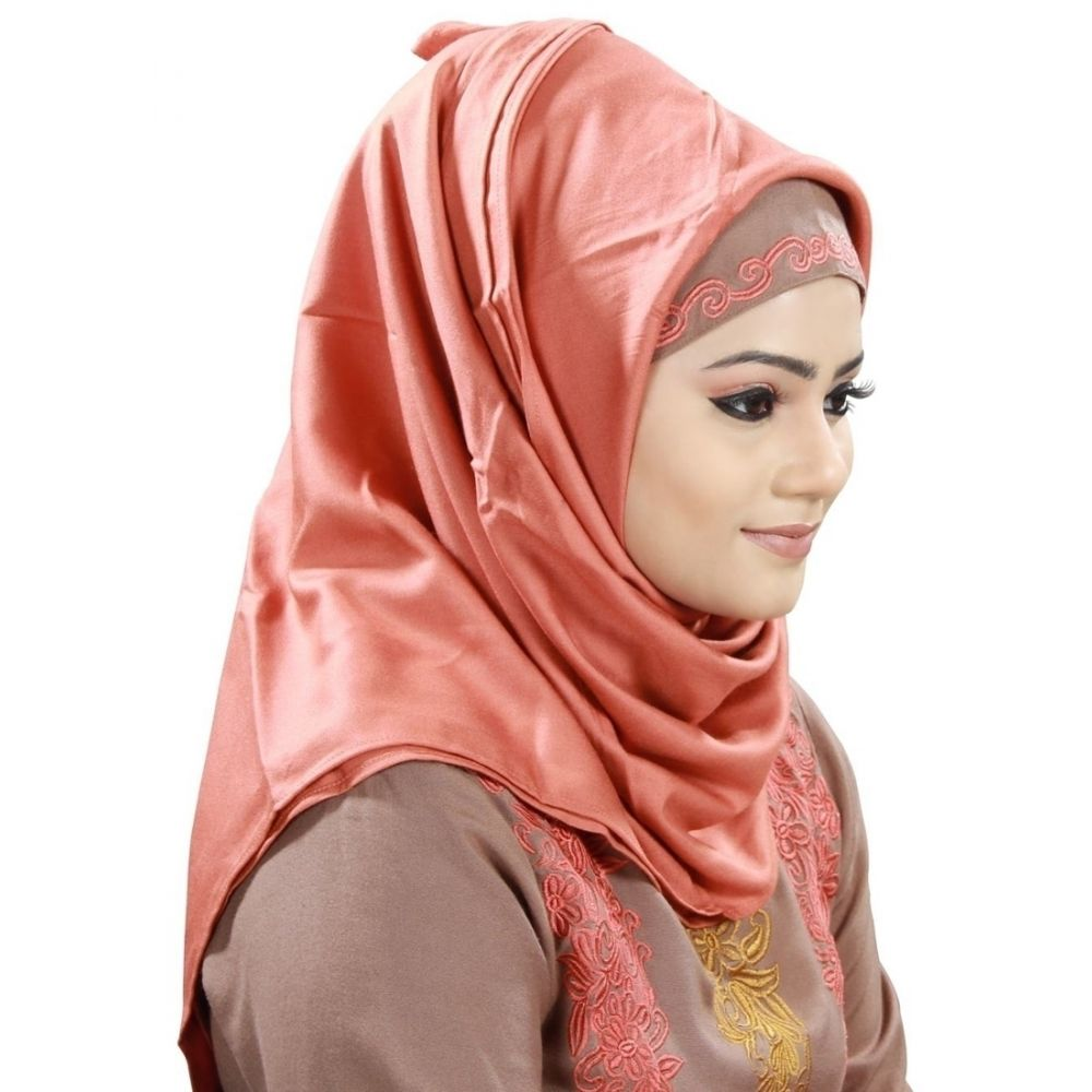 Red color Designer-Rayon Hijab