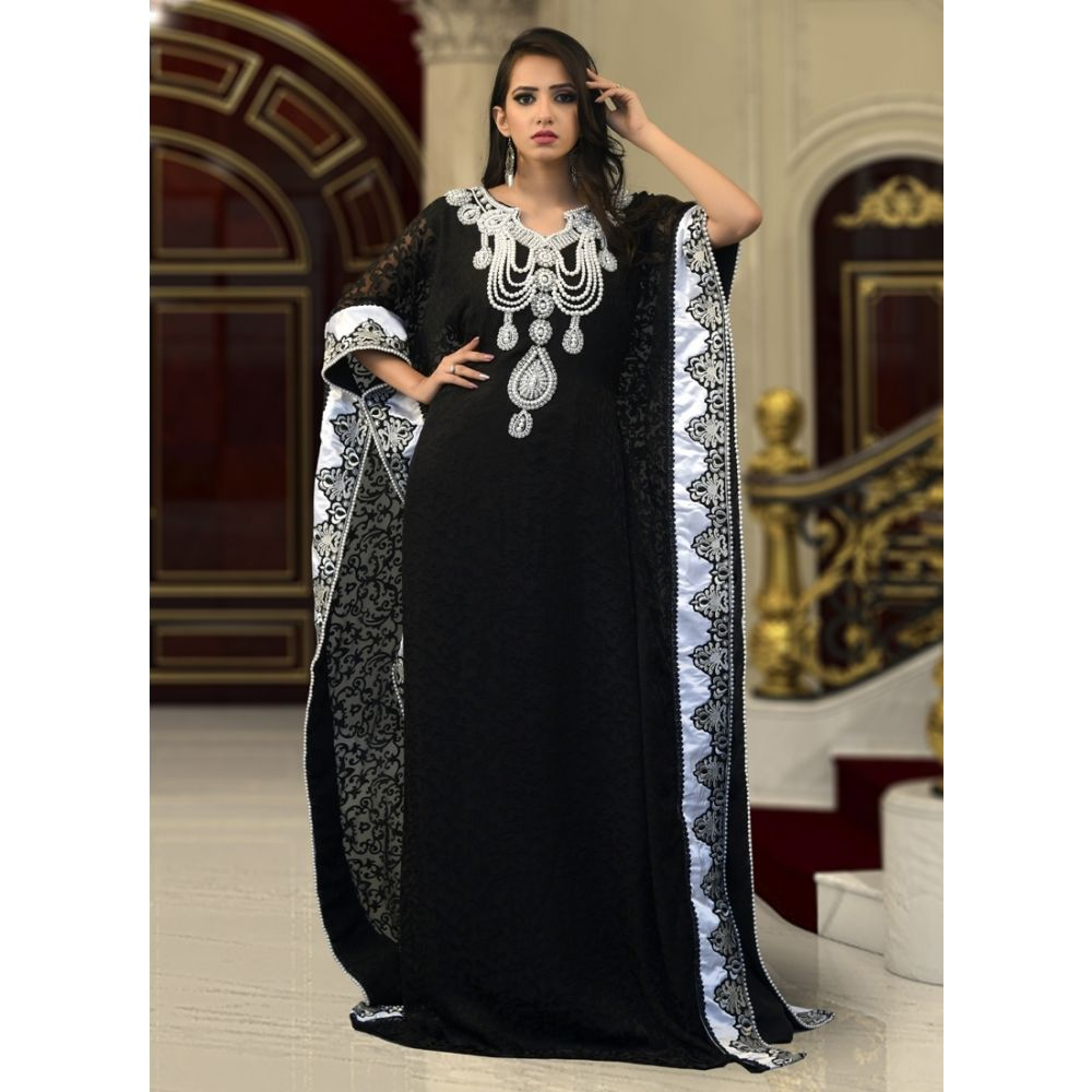 Muslim Formal Black Color Kaftan