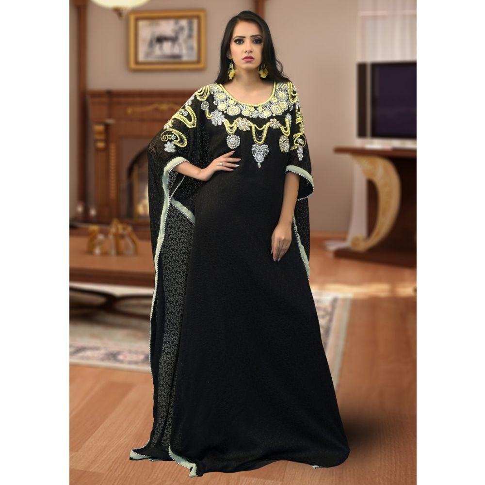 Modest Free Size Kaftan Black Color