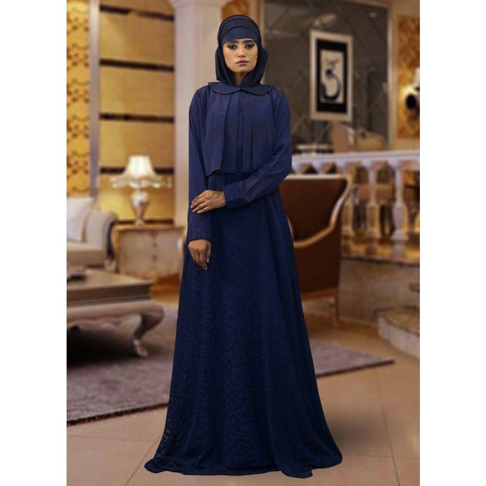 Muslim Formal Evening Dark Blue Abaya