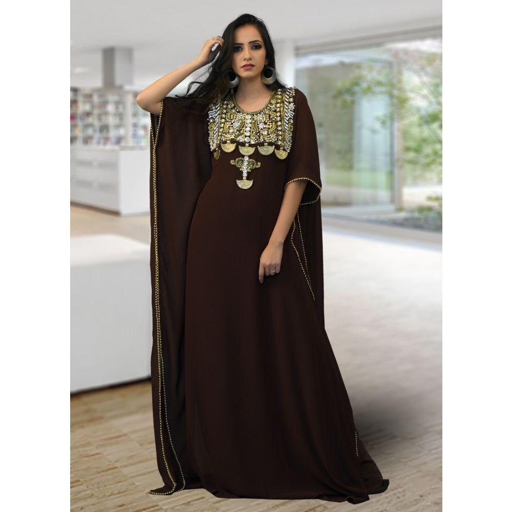 Moroccon Style Kaftan Brown Color