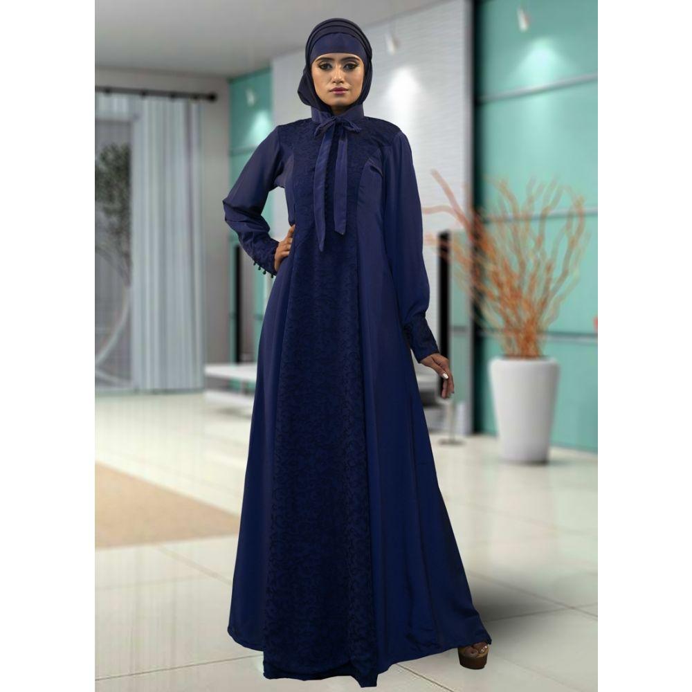 Dark Blue Color Free Size Kaftan