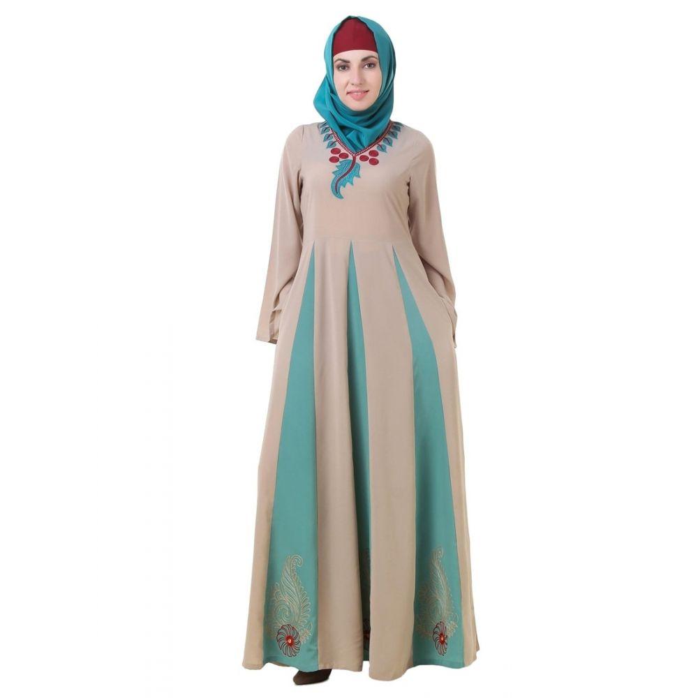 Womens Abaya Green Color Formal