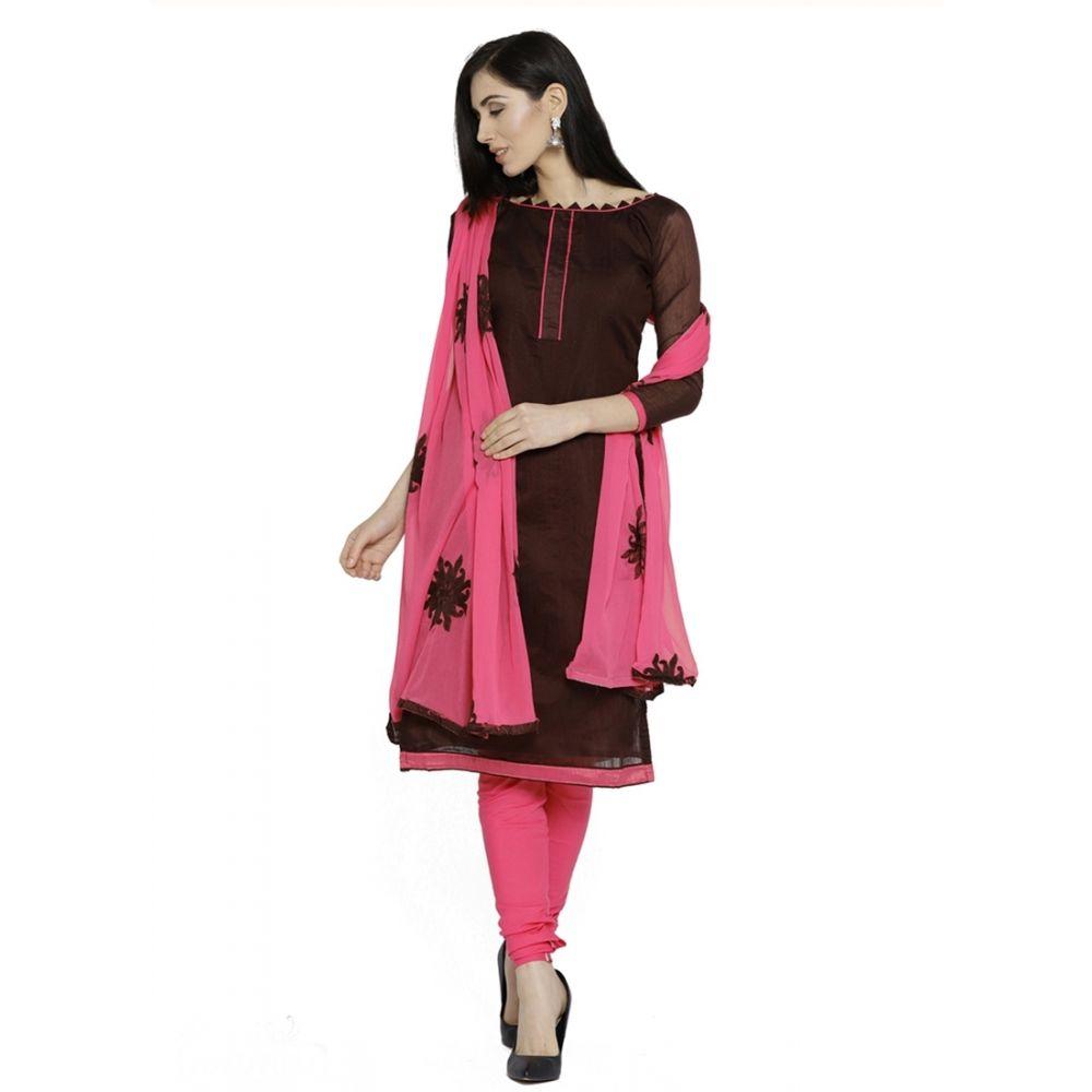 Brown color Casual Salwar Kameez-Silk Salwar Kameez