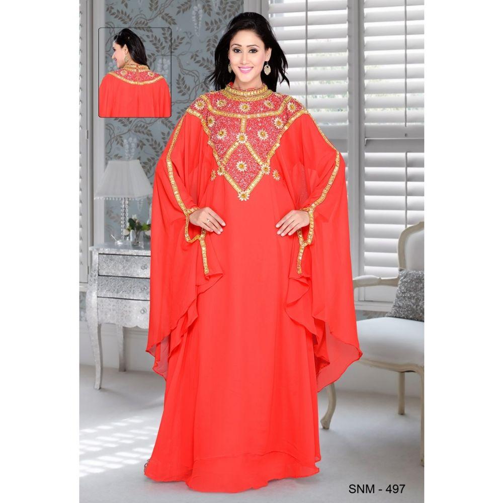 Red color Kaftan-Georgette Kaftan