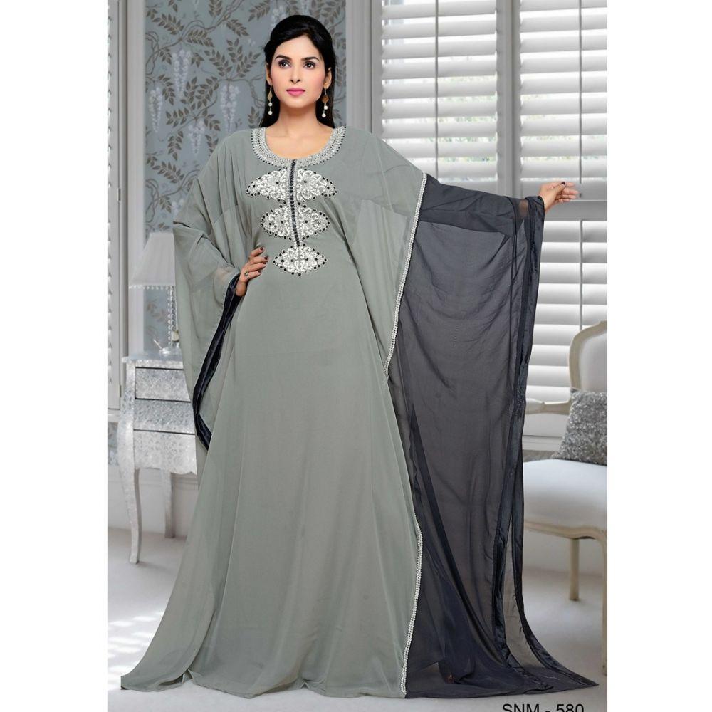 Grey color Kaftan-Georgette Kaftan