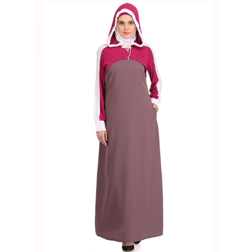 Womens Abaya Purple Color Rubiya