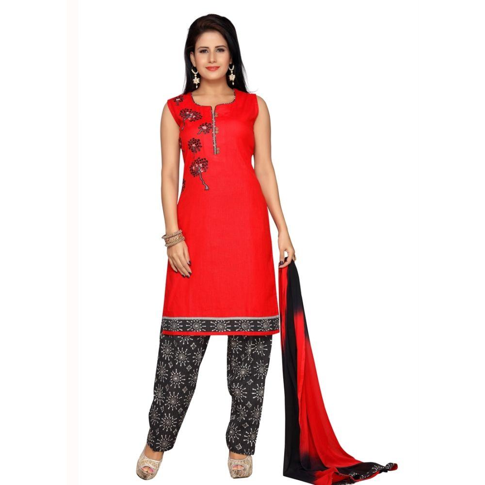 Red color Party Wear Rmd Salwar-Other Salwar Kameez