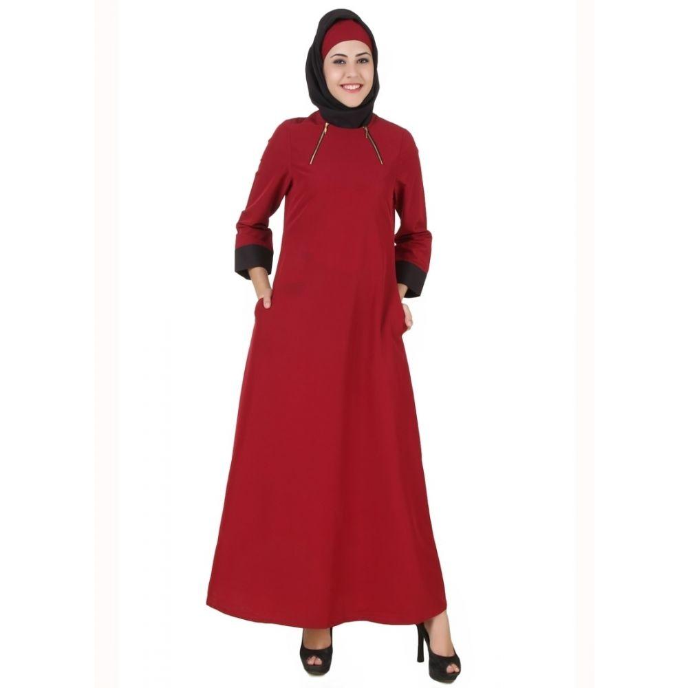 Womens Abaya Maroon Color Daily wear