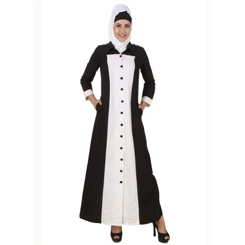 Womens Abaya White Color Formal