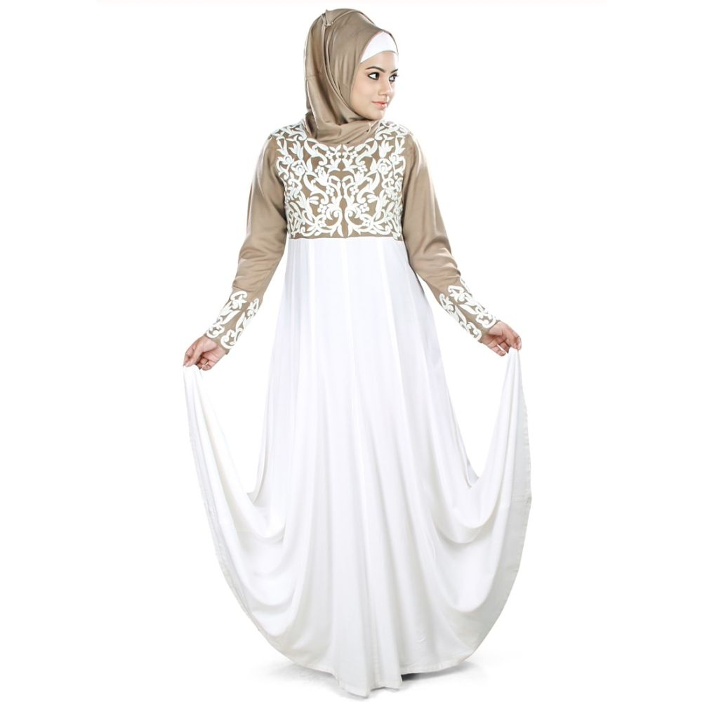 Womens Abaya Brown Color Modest Dress