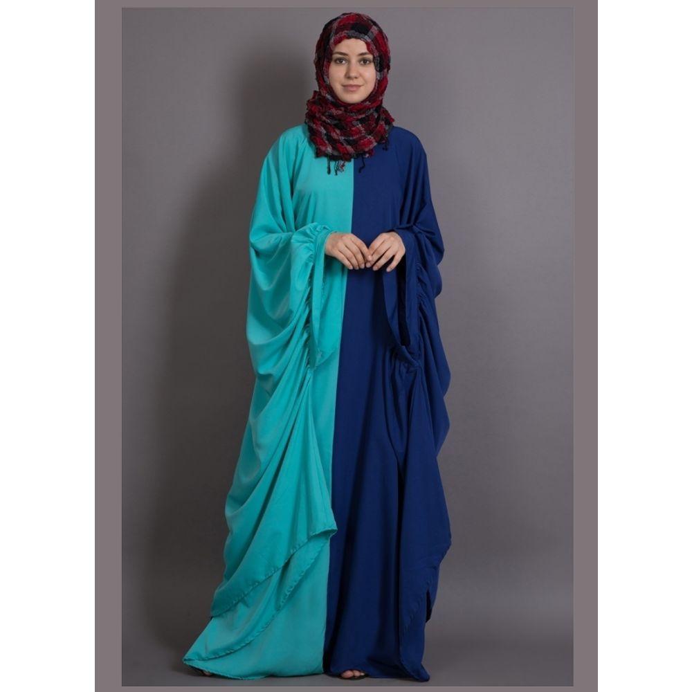 Womens Abaya Blue Color Designer wear