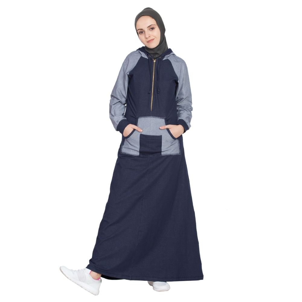 Womens Abaya Blue Color Evening Dress