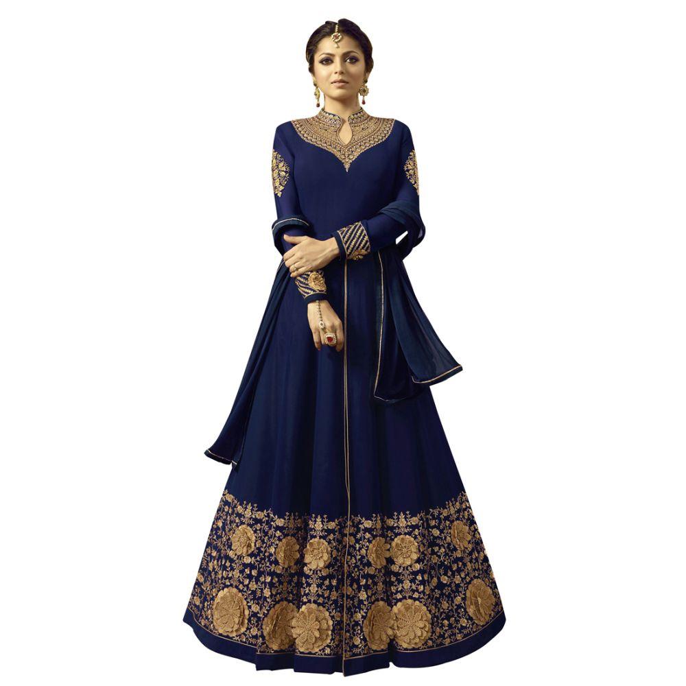 Majesty Blue Butta Work Salwar Kameez