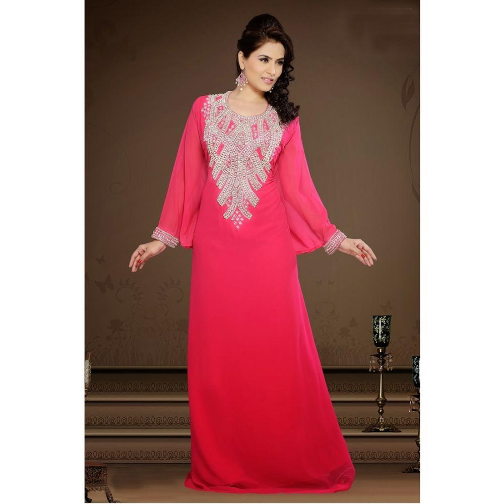 Womens Kaftan Pink color Partywear