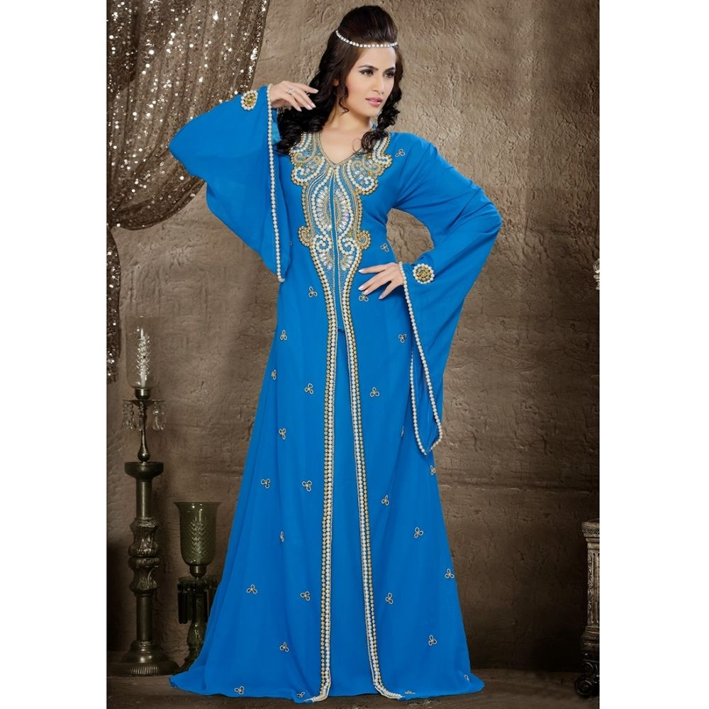 Womens Kaftan Blue color Formal Dresses