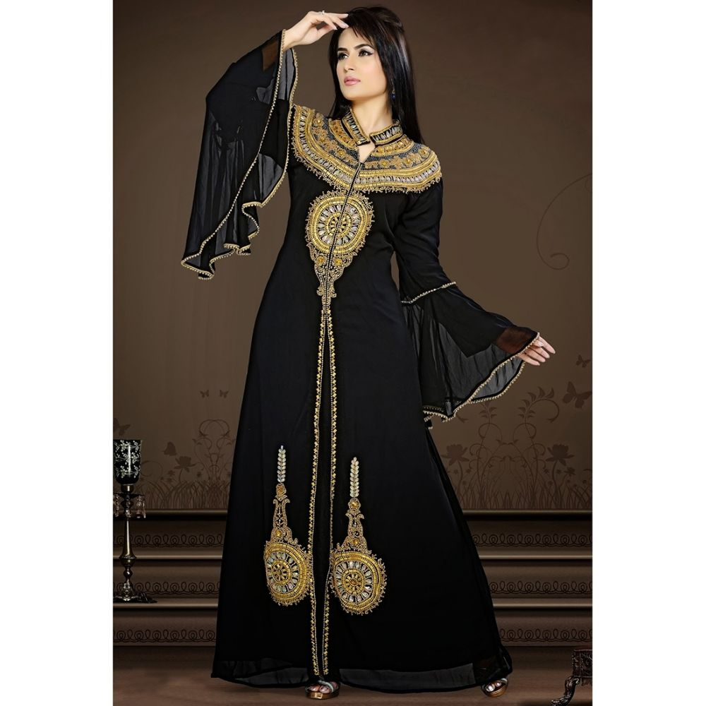 Womens Kaftan Black color Partywear